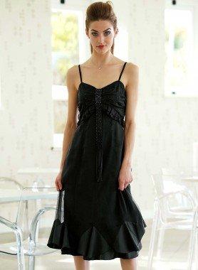 Träger-Kleid, Perlen