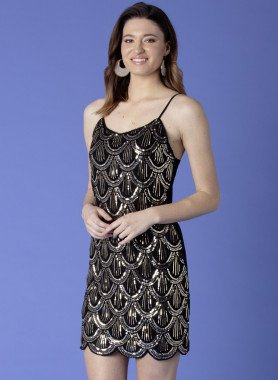 Kleid, Pailletten