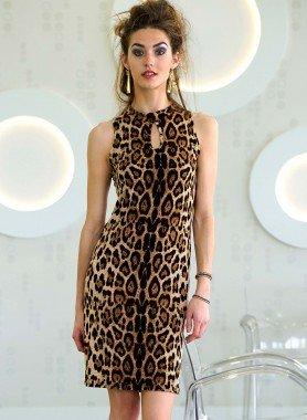 Kleid, Leopard-Print