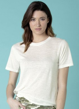 Kurzarm-Shirt, Melange-Optik