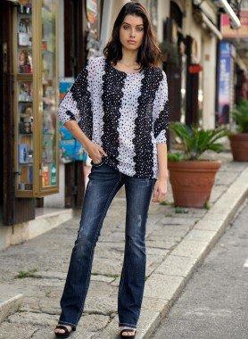 5-Pocket-Jeans, Schnur-Ziernähte