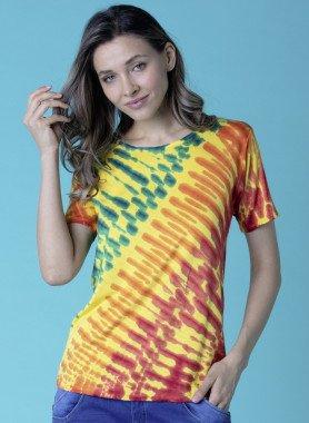 Kurzarm-Shirt, Batik
