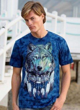 Kurzarm-Shirt, Wolf