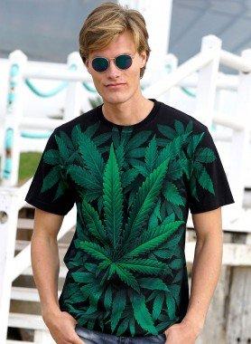 Kurzarm-Shirt, Canabis