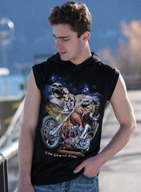 Ärmelloses-Kapuzen-Shirt, Bike