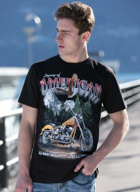 Kurzarm-Shirt, American/Bike