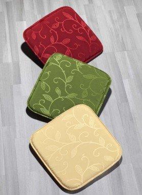 Stuhl-Kissen, Jacquard-Floral-Muster rutschfest, 2 Stück