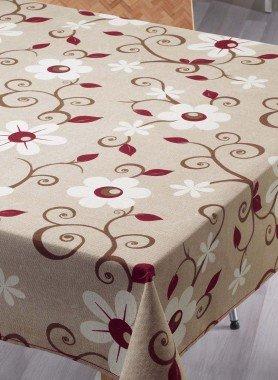 Tischdecke Blumen, plastifiziert