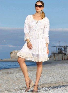 Kleid, Stufen-Optik