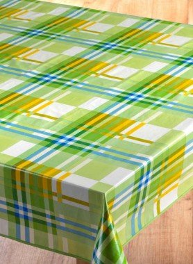 Tischdecke,Karo grün