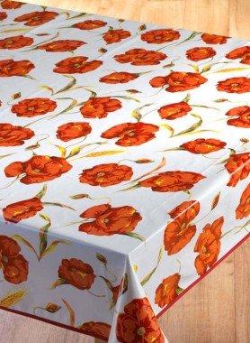 Tischdecke,Mohnblumen
