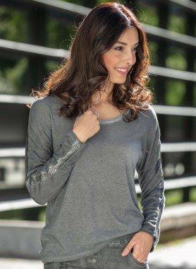 Langarm-Shirt,Lyrex-Streifen