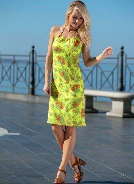 Kleid, Cashmere-Print