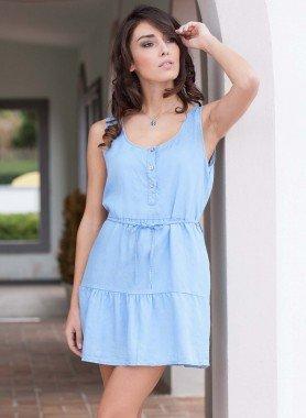 Aermelloses-Kleid, Kordel