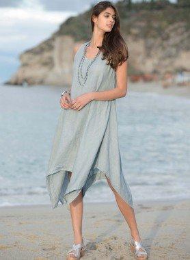 Leinen-Kleid, Zipfelform