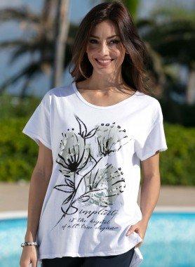 Kurzarm-Shirt, Floral-Print