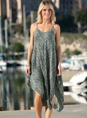 Träger-Kleid, asymetrisch