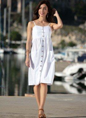 Träger-Kleid, uni