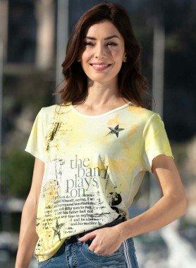 Kurzarm-Shirt, Schrift-Print
