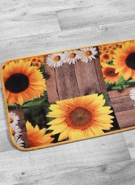 """Küchenteppich """"DIGITAL"""" Sonnenblume"""