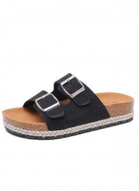 Sandalette, Doppelschnalle