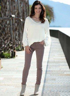5-Pocket-Jeans,Knitter-Look