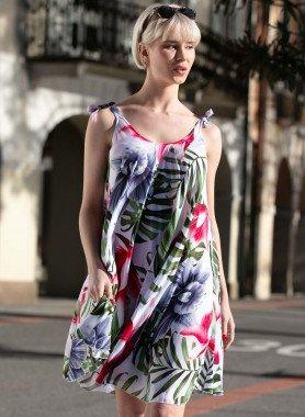 Trägerkleid, Floral-Print