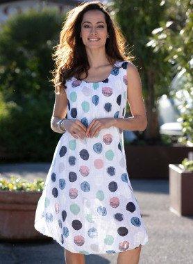 Aermelloses-Kleid, Colors-Tupfen