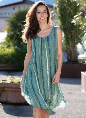 Aermelloses-Kleid, Streifen