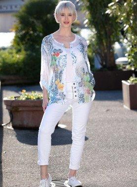 5-Pocket-Jeans, Knitter-Look