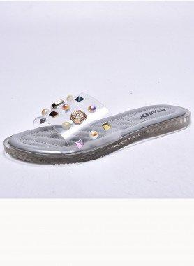 Sandalette, transparent