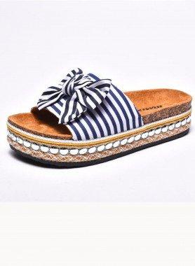 Sandalette, gestreift