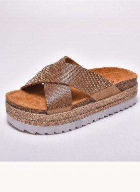Sandalette, gekreuzt