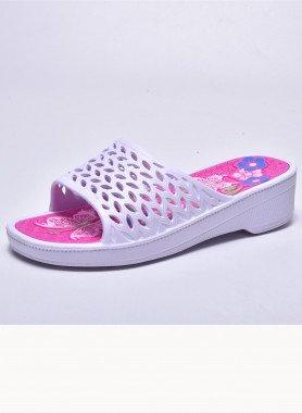 Sandalette, gelocht
