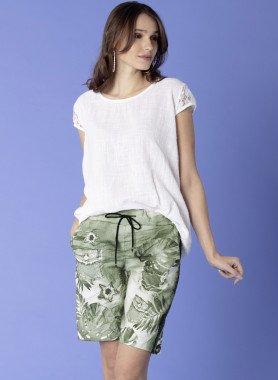Bermuda-Shorts Motiv-Print