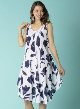 Aermeloses-Kleid, Tulpen