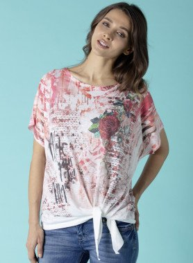 Kurzarm-Wickel-Shirt