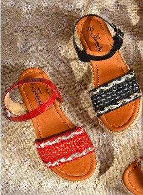 """Sandalette """"gepolstert"""""""