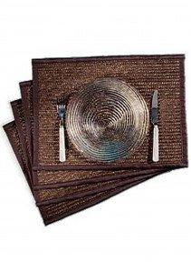 Tisch-Set,Recht.,4 st. braun - 1 - Ronja.ch