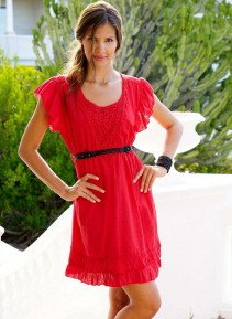 D-Country-Kleid, rot S 023 - 1 - Ronja.ch