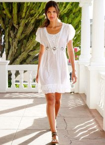 D-Country-Kleid, weiss L 001 - 3 - Ronja.ch