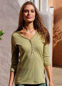 D-3/4-Arm-Shirt,Knopfl.senf m. L 018 - 1 - Ronja.ch