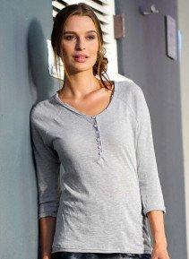 D-3/4-Arm-Shirt,Knopfl.grau m. L 003 - 3 - Ronja.ch
