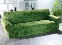 Schonbezug,3er-Sofa grün - 1 - Ronja.ch