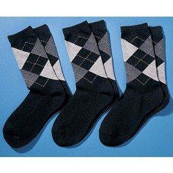 Oxford-Socken, rauten-Muster, 3 Stück