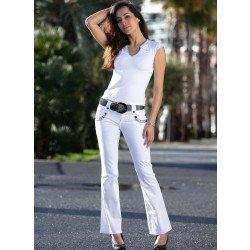4-Pocket-Hose, geflochtener Gurt