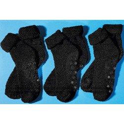 Haus Socken Sohle gummiert, 3 Stück