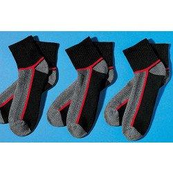 Sport-Socken verstärkt, 3 Stück