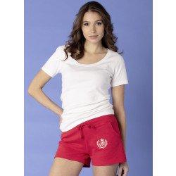 Shorts, Ripp-Elastbund. Labe-Stickerei