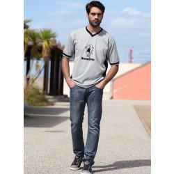 5-Pocket-Jeans blue-Denim used-washed